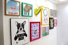 Galley Wall | Inspirações para montar uma parede de quadrinhos linda - Casinha Arrumada