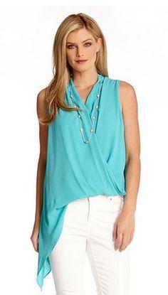 Love Love Love Turquoise! Love this Design! Turquoise Blue Asymmetrical Hem