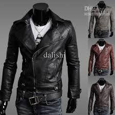 Resultado de imagen para chaquetas de cuero hombre moto