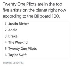 """omg i was looking at this earlier and """"stressed out"""" is 3rd song """"Blurryface"""" is 9th album and """"vessel"""" is 50th album I died"""