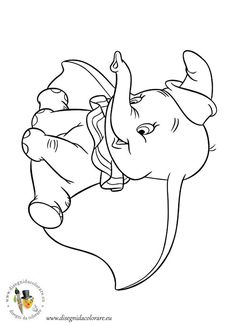 Dumbo. Disney Coloring Page