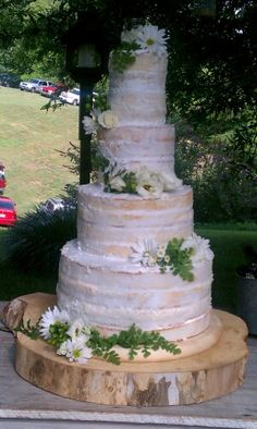 Another version of a Naked Wedding Cake