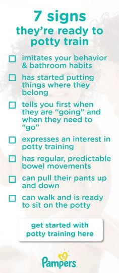 Get started with potty training your toddler by checking out this list of 7 signs they're ready to potty train. From imitating bathroom behavior to helping around the house, there are many things to reference as your baby grows to see if they're ready for this milestone.