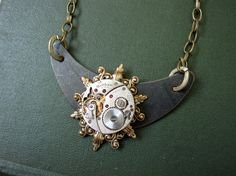 Steampunk Necklace Cosplay Jewelry Women's by DaysLongGone on Etsy, $55.00