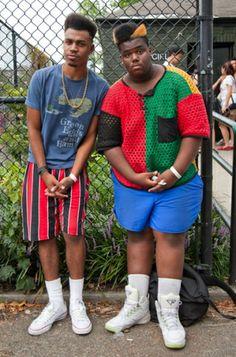 Kashif (left), lives in Brentwood, Long Island, and calls Michael Jackson hi. Afro Punk Fashion, 90s Fashion Grunge, Hip Hop Fashion, Urban Fashion, Fashion Black, Street Fashion, Black Is Beautiful, Lollapalooza Br, Punk Mode