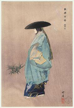 As estampas japonesas foram uma influência para a Arte Nova. Sumidagawa, de Tsukioka Kogyo (1869 - 1927)
