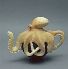 fantasy teapots created primarily in wood - Mirabelli Designs  ..... I want one! E.R.