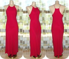 $42.99 #Vintage #80s Retro #30s #RED Racer Back Bias Harlow #Gown 7 S/M Formal #Cocktail #Dress by IntrigueU4Ever, $42.99