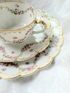 Antique Limoges France/Theodore Haviland/Tea by MariasFarmhouse, $125.00
