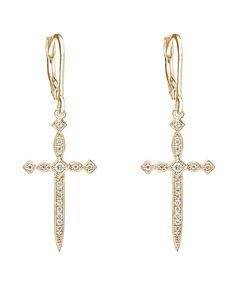 Stone Paris - Diabolique boucles d'oreilles or jaune et diamants