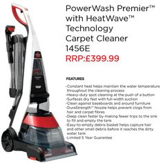 Are you looking for the most effective way to clean your carpets, stairs and upholstery? Then the BISSELL PowerWash Premier™ upright carpet cleaner is the best choice for you.