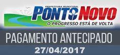 NONATO NOTÍCIAS: Prefeitura de Ponto Novo antecipa pagamento de sal...