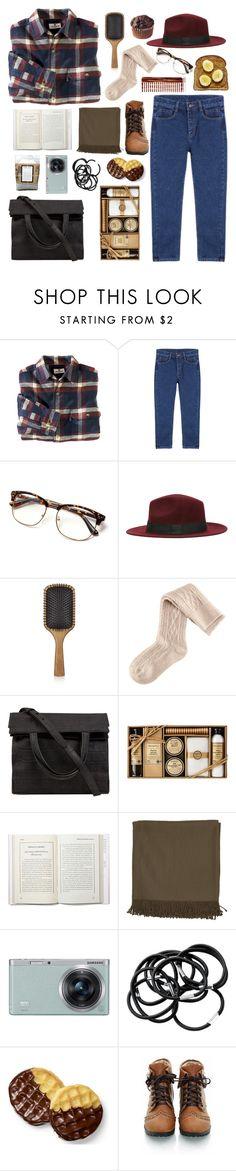 """""""holiday outfit #1"""" by colphi ❤ liked on Polyvore featuring Woolrich, Aveda, H&M, Alexander Wang, Surya, Samsung and Mason Pearson"""