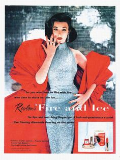 50's model Dorian Leigh -- Revlon Fire & Ice ad.