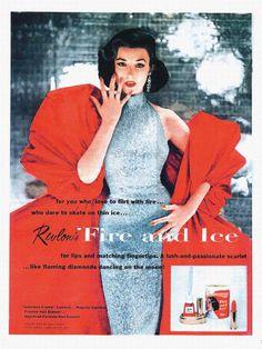 50's model Dorian Leigh -- Revlon Fire & Ice ad.
