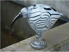 2010, Oiva Toikka, Ibis, Leerdam, unique, experiment/kokeilu Glass Birds, Scandinavian Design, Experiment, Finland, Glass Art, Objects, Ceramics, Drawings, Unique