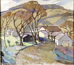 Anne Redpath, Frosty Morning, Trow Mill, 1936, Oil on Plywood. The Fleming Wyfold Art Foundation.