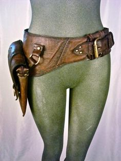 leather hip bag, thigh bag, burning man, tank girl, mad max, utility belt: Renegade Icon designs