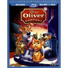 Oliver & Company: Anniversary Edition (Blu-ray/ DVD Combo Pack) Walt Disney Studios Home Entertainment Oliver & Company: Anniversary Edition (Blu-ray/ DVD Combo Pack) Disney Movies By Year, Dvd Disney, Classic Disney Movies, Film Disney, Disney Love, Disney Classics, Film Pixar, Pixar Movies, Kid Movies
