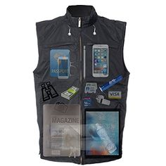 Be the super organized student you are with this V26 Vest with 26 Pockets, Dual Pockets for books or tablets. Stash your stuff and get ready for the test with this epic vest. GuyGifter.com
