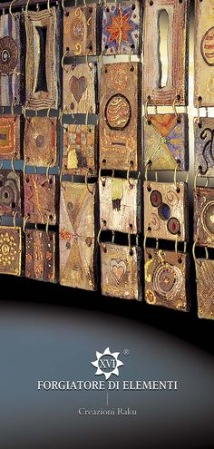 www.forgiatoredielementi.it Tiles Intriguing and unique artifacts, forged one by one, made in limitless shapes and colours. They may be used to decorate edges, terminals, niches, decors, depending on the client's desire. www.forgiatoredie... ... Incantevoli formelle, pezzi unici, forgiati a mano uno ad uno, di misure, colori e forme illimitate, da inserire come bordi, terminali, nicchie, isolate, decorazioni, a fantasia del cliente…#ceramica#raku