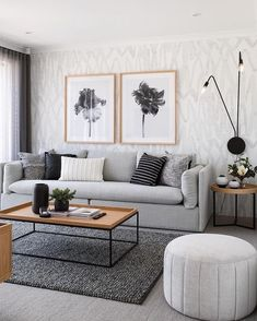 living room living room set living room ideas apartment room interior design living room furniture wall living room living room size rug for living room Living Room Grey, Living Room Interior, Home Living Room, Living Room Designs, Living Room Theaters, Black White And Grey Living Room, Simple Living Room Decor, Living Room Furniture, Apartment Living Room Wallpaper