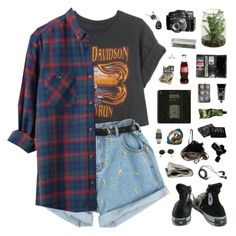 """Jet Black Heart"" by discxnnect-ed ❤ liked on Polyvore featuring Harley-Davidson, Ray-Ban, TokyoMilk, Aesop, Casio, NARS Cosmetics, Chanel, Rick Owens, Converse and DEOS"