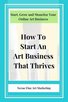 Art Business Basics Before You Plan. Know what your objectives are and how much time you can devote to your art business. The first step is to know how long each task will take to complete. Selling art online tips via Selling Art Online, Online Art, Online Video, Online Sales, Facebook Marketing, Social Media Marketing, Business Marketing, Marketing Strategies, Content Marketing