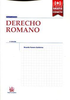 Derecho romano / Ricardo Panero Gutiérrez. Tirant lo Blanch, 2015