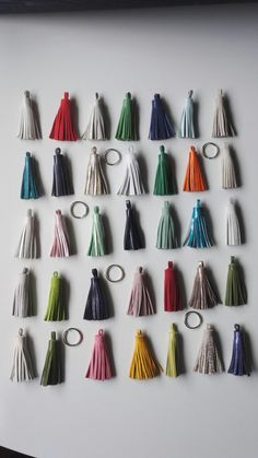 Leather Tassels for keychain or handbag accessory.   https://www.etsy.com/listing/553911055/leather-tassel-keychain?ref=shop_home_active_1
