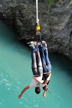 Tandem bungy jumping in New Zealand - something crazy to do together for all the thrill seeking couples out there.