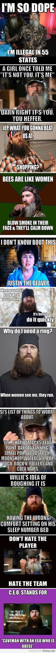 Hahaha love duck dynasty, they come up with real original!