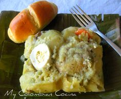 Tamales Colombianos or Banana-Leafed Parcels A must! A tradition I have to continue. Colombian Dishes, My Colombian Recipes, Colombian Cuisine, Kitchen Recipes, My Recipes, Mexican Food Recipes, Dessert Recipes, Cooking Recipes, Favorite Recipes