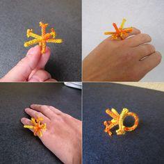 Vesellenka 2/30, acrylic and knots