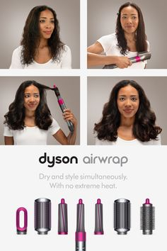The new Dyson Airwrap™ styler. Style and dry at the same time, with no extreme heat. Different Hairstyles, Cool Hairstyles, Summer Hairstyles, Braided Hairstyles, Beauty Skin, Hair Beauty, Curly Hair Styles, Natural Hair Styles, Hair Styler