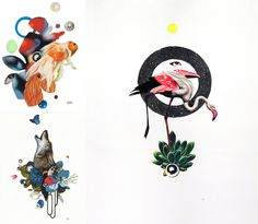 nature collages by Kelly Allen / featured on dearestnature.com