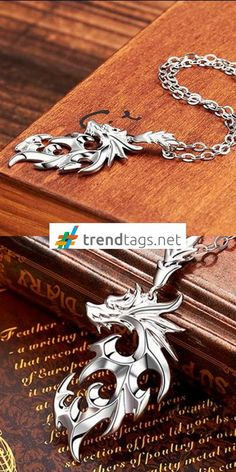 The Elder Scrolls - Skyrim - Dragon Necklace - FREE WorldWide Shipping on { trendtags.net }   #ElderScrolls #ElderScrollsOnline #Skyrim