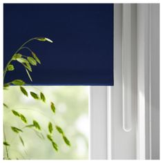 FRIDANS Block-out roller blind - blue - IKEA Ikea, Fabric Blinds, Curtains, Ceiling Materials, Pet Bottle, Wall Brackets, Roller Blinds, Recycled Fabric, Rolling Shutter