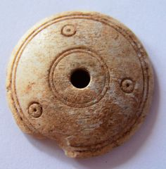 Ancient Roman Bone spindle whorl