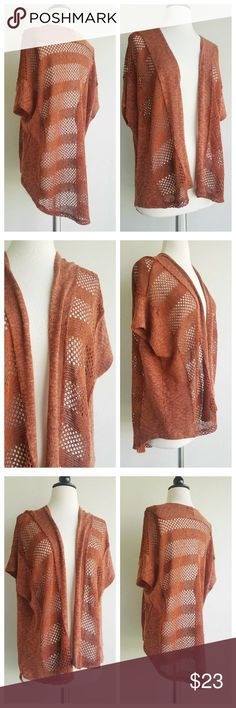UO urban outfitters staring at stars cardigan Beautiful cardigan in a rich earthy red brown color.  Perfect condition  Knit  Size medium  Has stretch Urban Outfitters Sweaters Cardigans