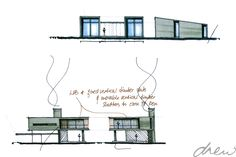 drew architects | new weekend home | sketch