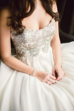 This glam dress: http://www.stylemepretty.com/ohio-weddings/cleveland/2015/02/26/romantic-bistro-wedding/ | Photography: Lauren Gabrielle - http://laurengabrielle.com/