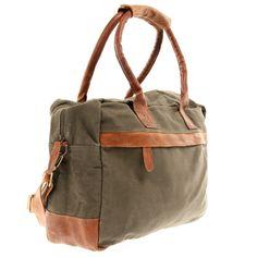 LECONI Handgepäck Tasche Canvas grün LE2007