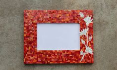 Mosaic picture frame by MadeByNatalieK on Etsy