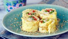 Rollitos de sushi con tortilla francesa