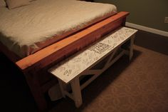 my absolute favorite idea for a wedding guest book... a guest bench!  Guests sign it and you have it for life