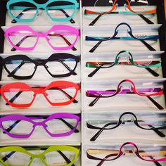 Miben and Rein in sparkeling colors! Optical Frames, Optician, Simple Shapes, Eye Glasses, Dutch, Eyewear, Virginia, Trends, Colors