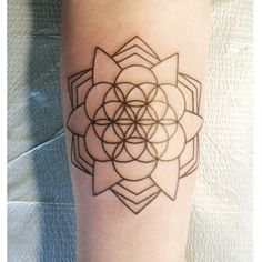 Geometric lotus flower and flower of life in the middle. So happy!! :)