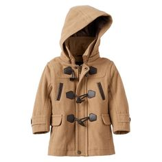 Baby Boy Urban Republic Hooded Wool-Blend Coat, Size: