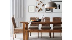 Tigris Dining Chair and Natural Cushion | Crate and Barrel